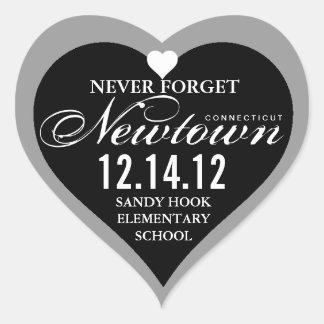 Nunca olvide al pegatina del corazón de la tragedi
