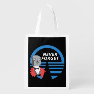 Nunca olvide bolsas de la compra