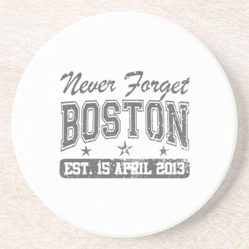 Nunca olvide Boston Posavasos Personalizados