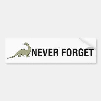 Nunca olvide etiqueta de parachoque
