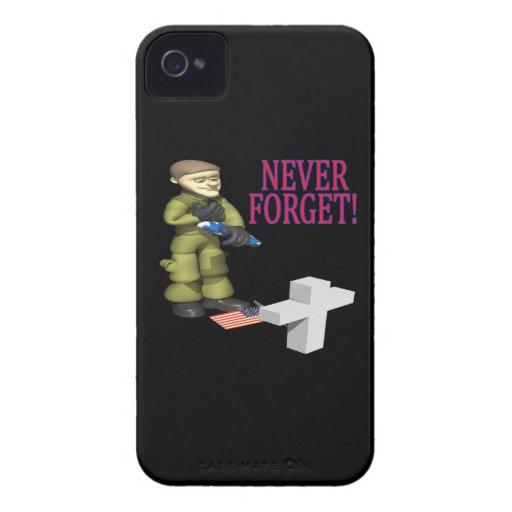 Nunca olvide Case-Mate iPhone 4 protectores