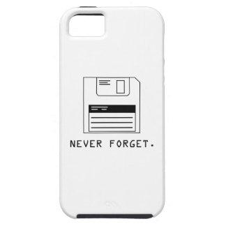 Nunca olvide Del disco blando iPhone 5 Protectores