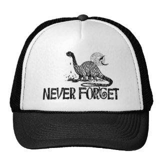 Nunca olvide el dinosaurio gorras