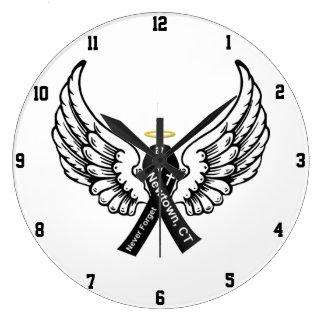 Nunca olvide el gancho de Sandy elemental Reloj Redondo Grande