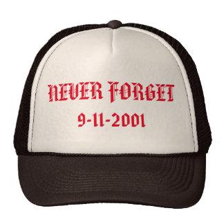 Nunca olvide el gorra del camionero 9-11-2001