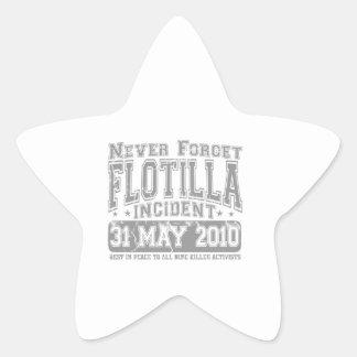Nunca olvide el incidente del flotilla calcomanías forma de estrellaes personalizadas
