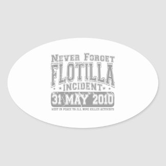 Nunca olvide el incidente del flotilla calcomanías de ovaladas