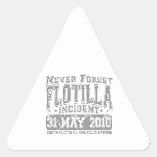 Nunca olvide el incidente del flotilla calcomanía triangulo personalizadas