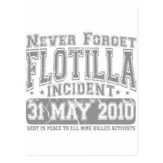 Nunca olvide el incidente del flotilla postal