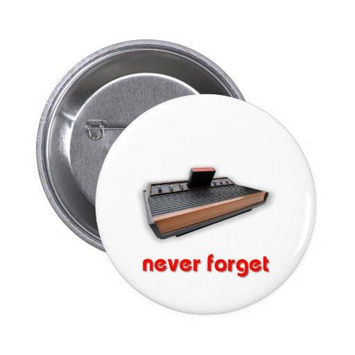 Nunca olvide el juego de la escuela vieja pin