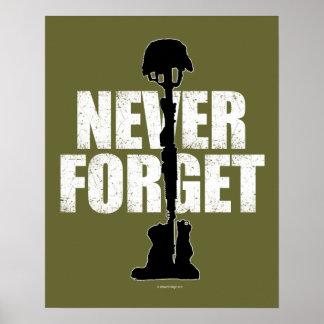 Nunca olvide (el Memorial Day) Póster