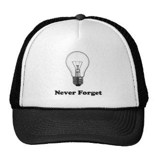 Nunca olvide incandescente - gorra