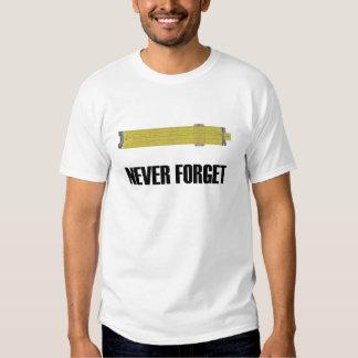 Nunca olvide la camiseta de la regla de playeras