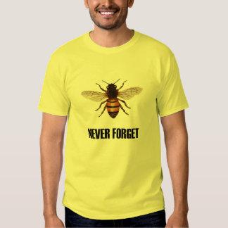 Nunca olvide la camiseta de las abejas de la miel polera