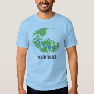 Nunca olvide la camiseta de Pangaea Playeras