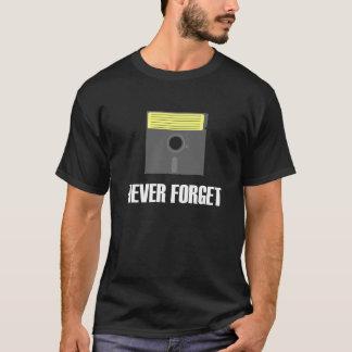 Nunca olvide la camiseta oscura del disco blando