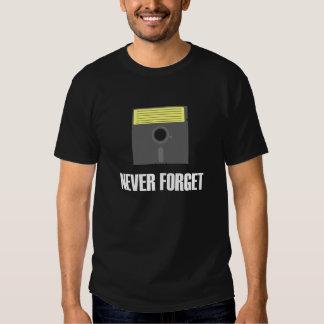 Nunca olvide la camiseta oscura del disco blando playeras