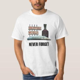 Nunca olvide la camiseta vieja del mundo de los co playeras