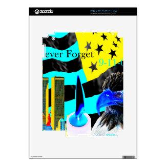 Nunca olvide la negativa 9-11-01 calcomanías para iPad 2