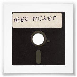 Nunca olvide las diskettes del ordenador fotografía