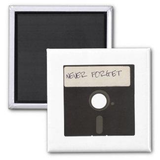 Nunca olvide las diskettes del ordenador imán cuadrado