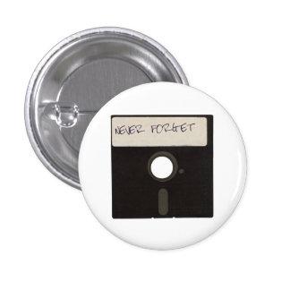 Nunca olvide las diskettes del ordenador pin redondo 2,5 cm