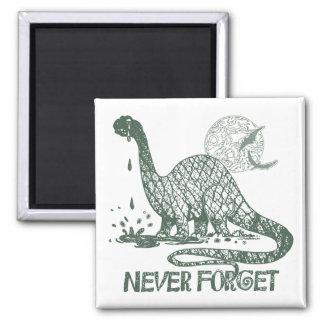 Nunca olvide las ideas del camisetas y del regalo iman de frigorífico