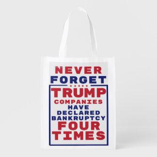 Nunca olvide las quiebras del triunfo bolsas para la compra