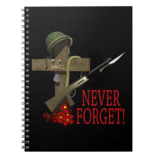 Nunca olvide libros de apuntes
