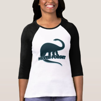 Nunca olvide los dinosaurios playera