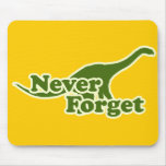 Nunca olvide los dinosaurios tapete de raton