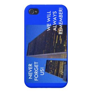 ¡NUNCA OLVIDE LOS E.E.U.U.! LAS TORRES GEMELAS iPhone 4/4S CARCASA