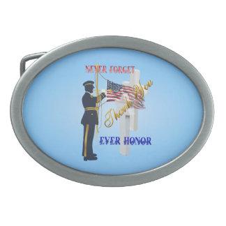 Nunca Olvide-Nunca la hebilla del cinturón del hon Hebilla De Cinturon Oval