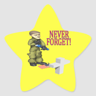 Nunca olvide pegatina en forma de estrella