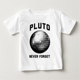 Nunca olvide Plutón Playera De Bebé