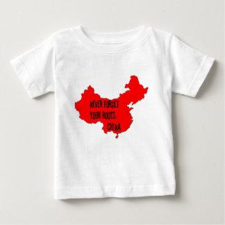 Nunca olvide sus raíces: China Playera De Bebé