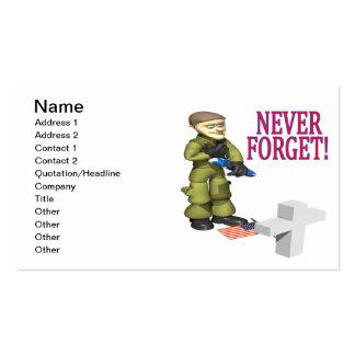 Nunca olvide plantillas de tarjetas personales
