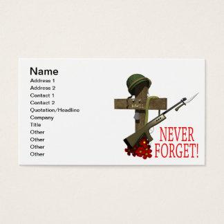 Nunca olvide tarjeta de negocios