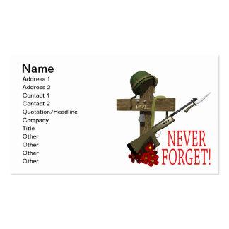 Nunca olvide tarjetas de visita