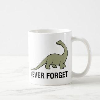 Nunca olvide taza básica blanca