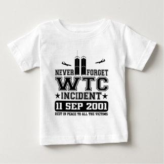 Nunca olvide World Trade Center el 11 de Remera