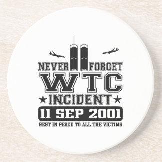 Nunca olvide World Trade Center el 11 de septiembr Posavasos Manualidades
