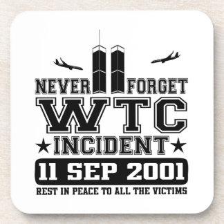 Nunca olvide World Trade Center el 11 de septiembr Posavasos De Bebida