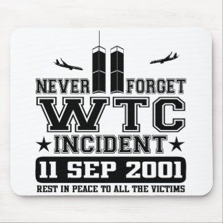 Nunca olvide World Trade Center el 11 de septiembr Alfombrilla De Ratón