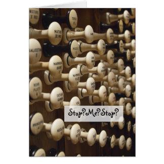 """""""Nunca pararé el amar de usted"""" tarjeta del órgano"""