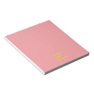 Nunca pare el amarillo de motivación del rosa de blocs de notas