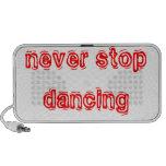 Nunca pare el bailar portátil altavoces