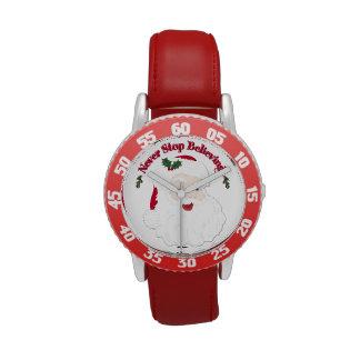 Nunca pare el creer - estilo Santa del vintage Reloj De Mano
