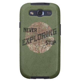 Nunca pare el explorar de la caja del teléfono de  samsung galaxy SIII funda