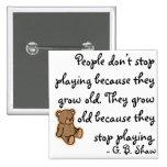Nunca pare el jugar pins